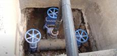 Замена аварийного участка водопровода по улице Стапная