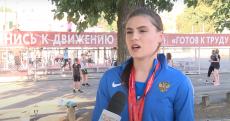 Победа Валерии Воловликовой в соревнованиях по легкой атлетике