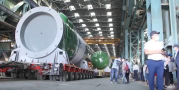 Отгрузка корпуса реактора от «Атоммаш» для  АЭС Турецкой Республике