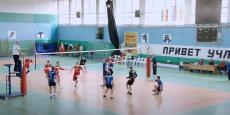 Завершающая игра чемпионата области по волейболу